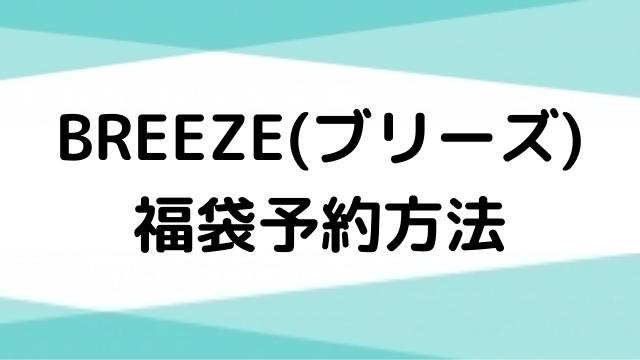 ブリーズ(BREEZE)福袋2021の予約方法は?当日販売店舗や販売時間・販売個数も調査!